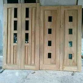 Jual pintu, kusen, jendela, dll