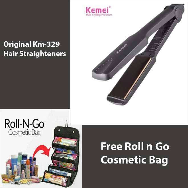 Km-329 Professional Hair Straighteners Flat Iron and Get free 0
