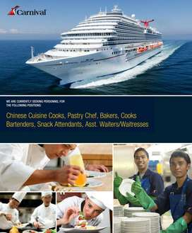 Hiring  candidate  for  luxury  Cruise line