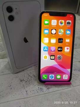IPHONE 11 Warna WHITE 128Gb LIKE NEW INTER ORI