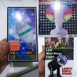 Lampu rgb disco rotating berputar AC