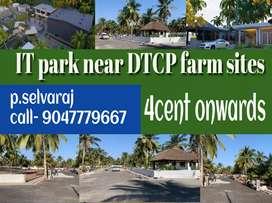 DTCP farms plots for  sale in Saravanampatti IT park near