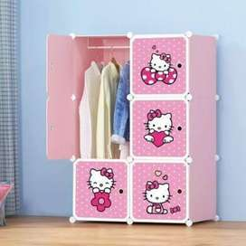 Wardrobe Cupboard Organizer For Kids Cloth Almaari Clothing Rack