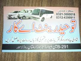 Tauheed Rent A Car Giving Services For All Tours in Lahore