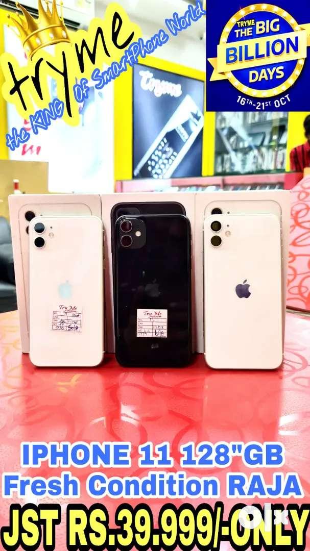 "TRYME 128GB IPHONE 11 Pure white Sema Fresh Condition""s 0"