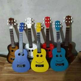 Jual ukulele motif smile