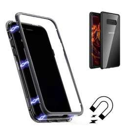 New 360derajat Magnetic Transparan Case Metal glass Samsung Note 8