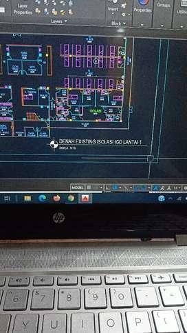 Jasa gambar design CAD untuk rumah
