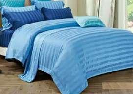 Sprei set bed cover sutra impor mewah, berbagai ukuran dan motif
