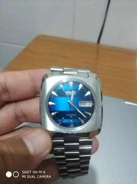 Jam Tangan SEIKO Automatic, Model Kotak, Klasik, Blue Dial, Perfect
