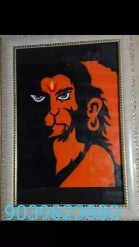 Hanuman ji acrylic painting