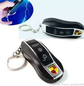 Remote Control Electric Shock Car Key chain with 3 function to make fu