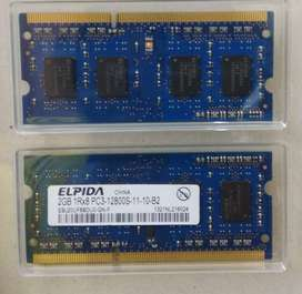 ELPIDA 2GB DDR3 RAM for laptop and macbook
