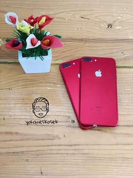 Iphone 7plus 128gb red fullset mulus no rekondisi ex inter