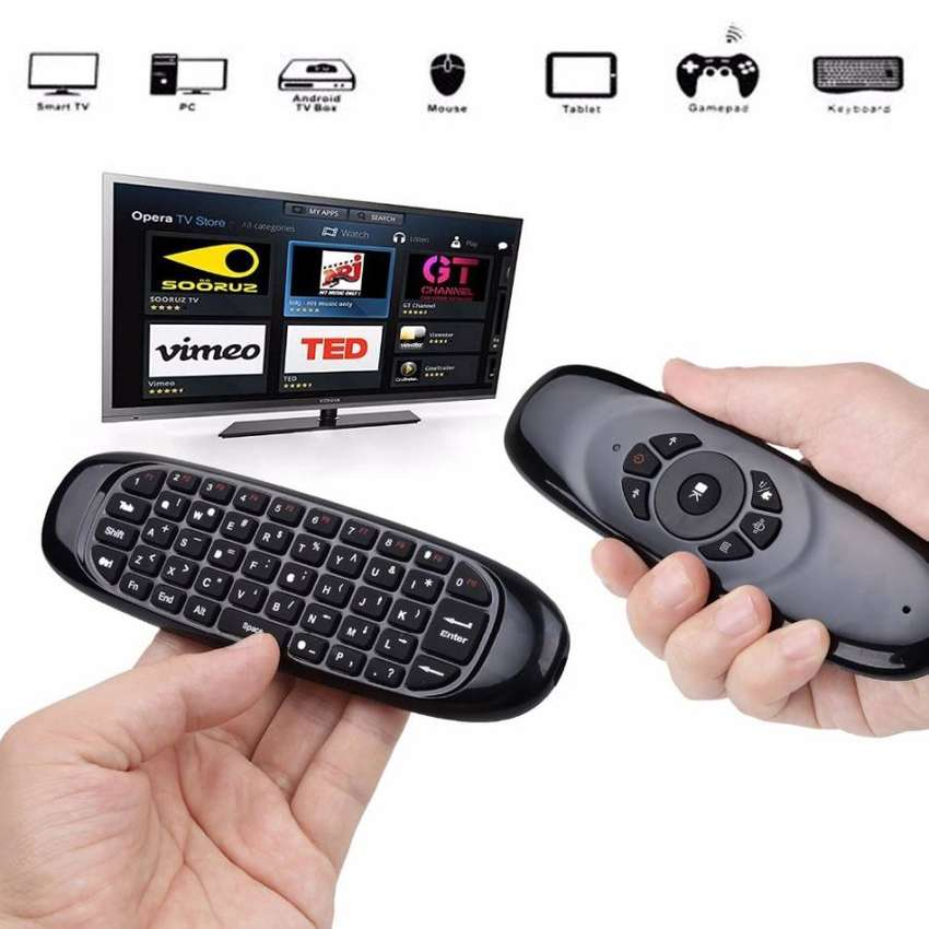 Keyboard Remote Control Laptop PC Wireless Fly Air Mouse Controller