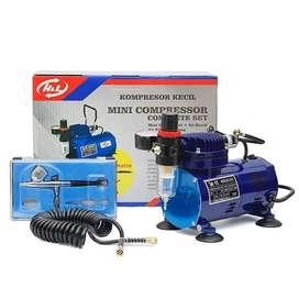 Kompresor Mini Compressor Complete Set With Air Brush AS18-2