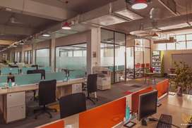 CO-WORKING SPACE IN 4000 Rupees Per Seat With All Facilities At Sector