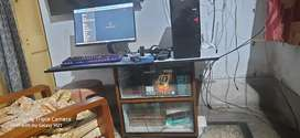 Computer table.