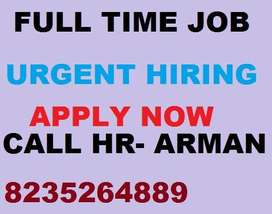 Company hiring fresh and exp.male candidates for his all india process