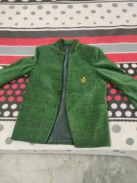 Bottle green western coat