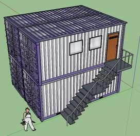 Modifikasi container tundem bekas