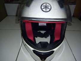 Helm Cargloss White Full Face Vixion NVL ORIGINAL