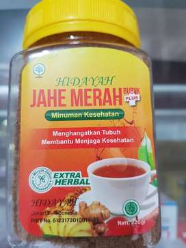 Hidayah JAHE MERAH @ 220 gram - BARU - COD Tng & JakBar