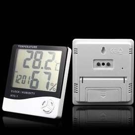 HTC-1 Digital Hygrometer & Temperature Meter LCD + Clock ID98