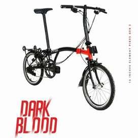 Sepeda Lipat Element Pikes Gen 2 Dark Blood