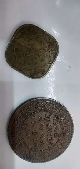 Old coin George 6th king emperor