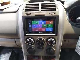 Headunit TV plus frame khusus untuk Suzuki Grand Vitara