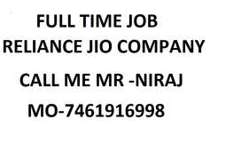 Reliance Jio Full time job apply in helper,store keeper supervisor