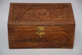 Curving Wooden Jewelry box single Portion
