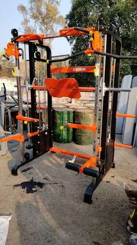 Functional trainer cross-over with smith