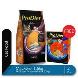 ProDiet Mackerel 1.5 kg FREE 1 pcs FREE 1 Box Ocean Fish 200 gr