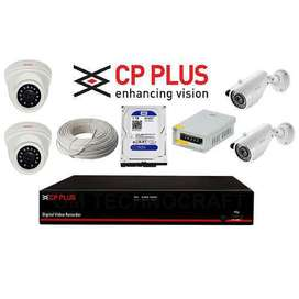 Brand New Cp plus Hikvison cctv 2,4,8 channel set up, Biometric