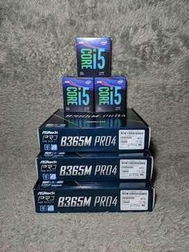 Core i5-9400f dan Motherboard ASRock B365M Pro 4