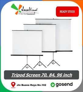 Layar Proyektor Tripod Screen LCD