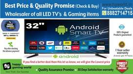 """Unbelievable 32""""Smart Brand New Led Tv(BestQuality Wholesale 24""""to65"""")"""