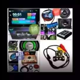 Grosir 2din Android link LED 7inc+paket audio komplit plus pasang ok