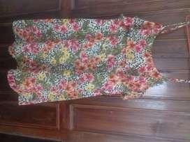 Floral leopard print ki dress h