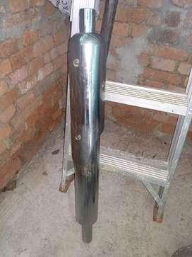 Punjabi free flow silencer with heat shield
