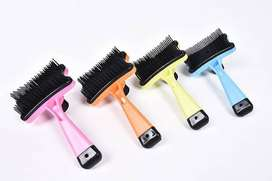 Sisir kucing anjing - Hair Pet Brush with button