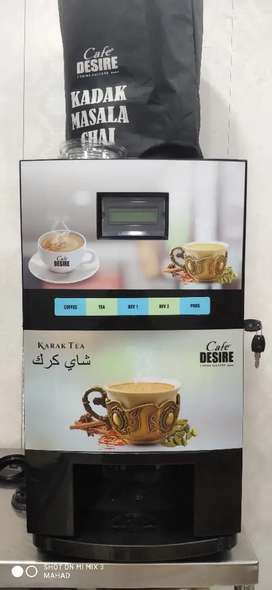 Cafe desire 4 lane automatic tea coffee machine