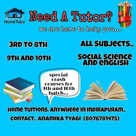 Home tutions ( 3rd-10th standard)