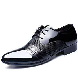 COSIDRAM Hollow Outs Breathable Men Formal Shoes Pointed Toe