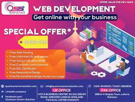 web site only in 9999 with free hosting & graphic designing &Seo