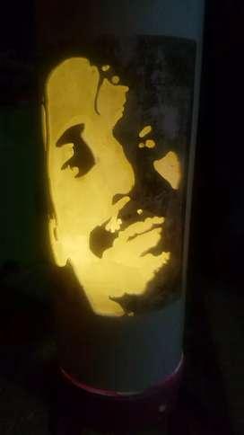Lampu ukir pvc berkarakter
