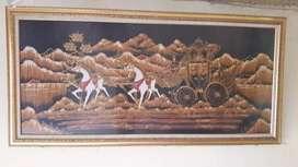 Jual lukisan kuda pantai selatan