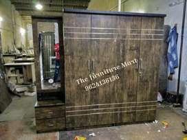 Brand New Brown Wooden 4 door Cabinet